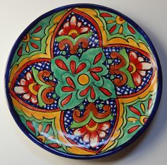 """Traditional Mexican 8"""" Plate Design14 from Jacaranda"""