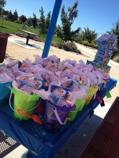 1st birthday party favors and pinata Bubble guppies theme!