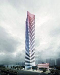Jiangdu landmark tower - China