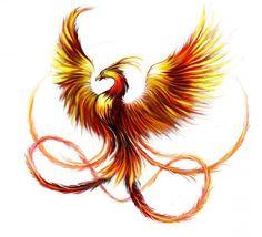 Резултат с изображение за феникс тату на руке эскиз