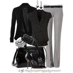 Black & Light Gray - Polyvore