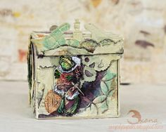 Winter Fairy Tale Artist Trading Block by Oxana Moupasiridou
