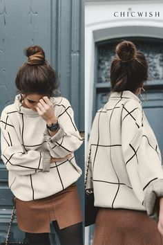 Stylish Sweaters Outfit Winter Try - Outfits Styler Fall Winter Outfits, Autumn Winter Fashion, Look Fashion, Fashion Outfits, Knit Fashion, Looks Style, My Style, Casual Outfits, Cute Outfits