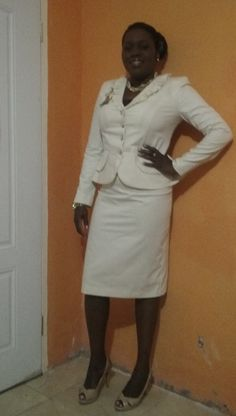 Day 7: Custom made suit by my seamstress Audrey & shoes by Christian Siriano for Payless