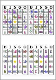 Math Bingo, Math Games, School Resources, Math Resources, Fraction Games, Fraction Activities, Primary Maths, Third Grade Math, Math Fractions