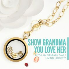 Grandma was always there to spoil you with fresh baked cookies, love and kisses. Now, spoil her with a Living Locket made just for her!