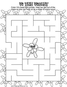 makingfriends daisy petals maze pages help each flower work their way out of the maze to help girl scout daisies learn the parts of the law