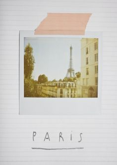 When I get film for my Polaroid camera and I go to Paris I'm doing this.