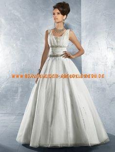 Elegante prinzessin Brautmode Ballkleid aus Organza mit kurze Schleppe online 2013