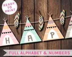 Tribal Party Banner Teepee Banner Dream Catcher Banner