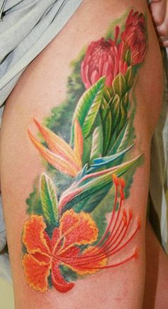 Tattoo Artist - Zhivko Baychev - flowers tattoo