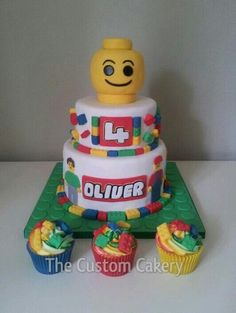 Lego cake - by Mellie @ CakesDecor.com - cake decorating website