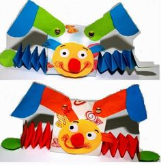 Risultati immagini per bricolages cirque Kids Crafts, Clown Crafts, Circus Crafts, Carnival Crafts, Kids Carnival, Circus Art, Circus Theme, Crafts For Kids To Make, Toddler Crafts