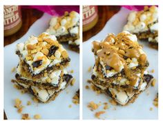 triple layer cookie butter smores bars