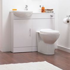 Sienna High Gloss White Vanity Unit Cloakroom Suite