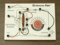Did you start with a Radio Shack Science Fair Crystal Set?  It's from the late 60's / early 70's?  I made one as a kid, and sparked my interest in Ham Radio and electronics.