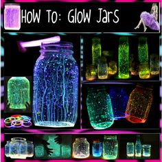 """How To: Glow Jars {Glow Sticks & Glow In The Dark Paint}"" by madelynneschneider on Polyvore"