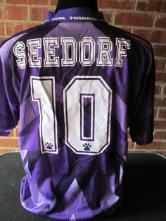 55155971b0a 1996 1997 Real Madrid Seedorf 10 Away Football Shirt small 31824