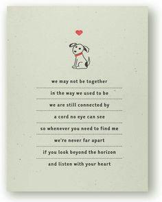 Deceased dog poem