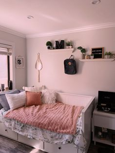 College Bedroom Decor, Room Design Bedroom, Girl Bedroom Designs, Room Ideas Bedroom, Home Room Design, Pinterest Room Decor, Cozy Room, Aesthetic Bedroom, Dream Rooms