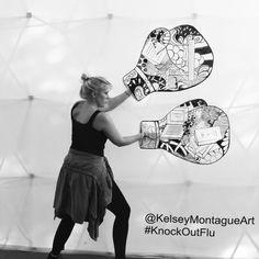 KnockOutFlu Interactive Boxing Gloves | Kelsey Montague Art