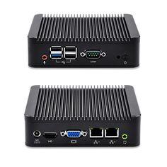 QOTOM Mini PC Dual NIC port, Bay Trail j1800 / j1900, Fanless Mini PC Linux, pfSense, Win 7/8/10, X86 Mini PC 12V