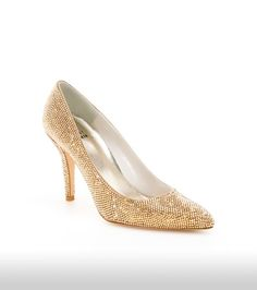 "Stuart Weitzman ""Pave"" pumps, covered with Swarovski crystal."