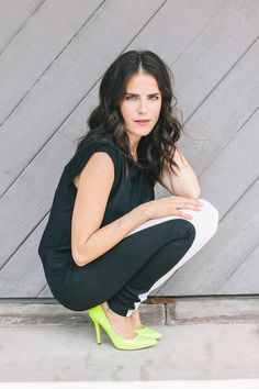 """Meet The Actress You'll Be Watching All Fall #refinery29  She wears EVLEO Chic Leggings.  http://www.refinery29.com/2014/09/74863/karla-souza-how-to-get-away-with-murder#slide4  With so many directors, do you feel like it's still Shonda leading the show?  """"Yes. It feels like it's one person. Also, with the editing, she's very hands-on. And Peter Norwalk is the show's creator. Everything from the necklace I'm wearing to the shoes — ..."""