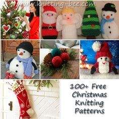100+ Free Christmas Knitting Patterns http://www.knitting-bee.com/