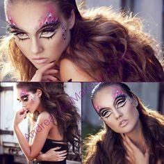Ferocious! Blanche Macdonald Makeup grad/instructor Andrea Tiller's final look for Blanche Macdonald at IMATS (International Makeup Artist Trade show) Vancouver. Andrea's talent is breathtaking!