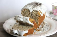Earl Grey 'Honey' Loaf Cake with Coconut Cream Glaze [Vegan] | One Green Planet