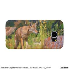 Summer Coyote Wildlife Painting Samsung Galaxy S6 Cases