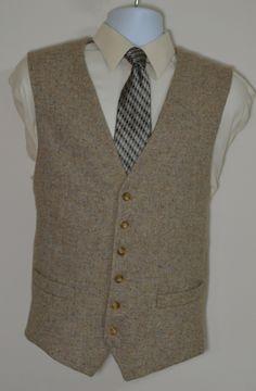 Mens Vest - Wool Tweed (Sand)