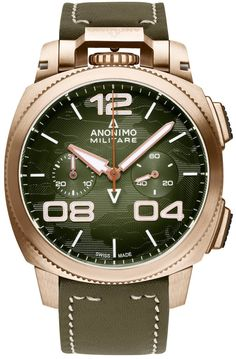 Anonimo Watch Militare Alpina Camouflage Green #add-content #basel-17 #bezel-fixed #bracelet-strap-leather #brand-anonimo #case-material-bronze #case-width-43-4mm #chronograph-yes #delivery-timescale-call-us #dial-colour-green #gender-mens #limited-edition-yes #luxury #movement-automatic #new-product-yes #official-stockist-for-anonimo-watches #packaging-anonimo-watch-packaging #price-on-application #style-dress #subcat-militare #supplier-model-no-am-1123-01-002-a05…