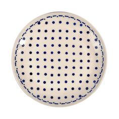 Bring a charming touch to your tablescape at your next dinner party with this charming ceramic dessert plate, showcasing a delightful polka-dot motif. ...