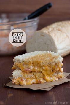 Pimiento Grilled Cheese Sandwich | www.tasteandtellblog.com