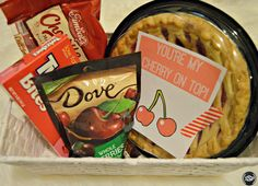 Cherry On Top Valentine's Day Gift Basket + Printable