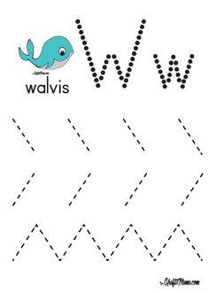W- Werkboekie Voorbeeld Verniet !! - KraftiMama Free Preschool, Preschool Learning, Preschool Activities, Grade R Worksheets, Preschool Worksheets, Letter W, Pre School, Birthday Invitations, Literacy