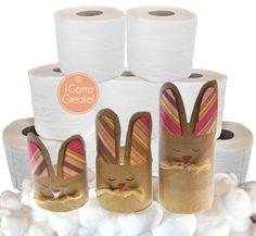Got TP? Got kids? Make these cute Funny Bunnies! Tutorial at I Gotta Create!