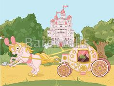 """""""Fairytale carriage"""" - Girl's Room Decor Posters and Prints Available at Barewalls.com"""