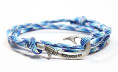 Artic Camo Fish Hook Bracelet (New)   Fish Hook Bracelets   Chasing Fin Apparel