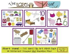 Phonics Clip Art Mega Pack!  SAVE $ by purchasing 5 sets in 1!!