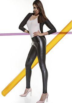 Leggings tregging femme sexy slim noir simili cuir moulant Bas Bleu salma S  M L 4c1a9aac4d9