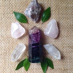 A personal favorite from my Etsy shop https://www.etsy.com/listing/234338727/fluorite-crystal-set-fluorite-tower