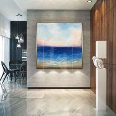 Nature paintings – Trend Gallery Art | Original Abstract Paintings Extra Large Wall Art, Ocean Paintings On Canvas, Ocean Painting, Art Painting Oil, Modern Artwork Abstract, Sky Landscape Painting, Large Abstract Painting, Seascape Paintings, Purple Painting