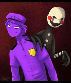 Purple Guy and Marionette