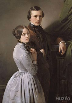 Edouard Dubufe and his wife by Claude- Marie Dubufe