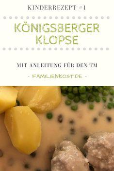Königsberger Klopse nach original DDR Rezept könnt ihr sowohl im Thermomix als auch auf herkömmliche Art und Weise zubereiten. Hackfleisch und eine cremige Kapernsauce machen das Kinderrezept, das der ganzen Familie schmeckt perfekt: https://www.familienkost.de/rezept_koenigersberger_klopse_thermomix_ddr_rezept.html