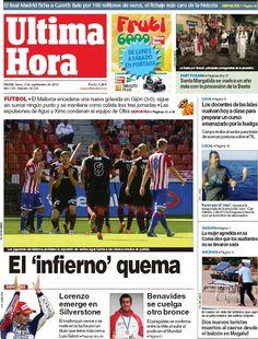 Los Titulares y Portadas de Noticias Destacadas Españolas del 2 de Septiembre de 2013 del Diario Ultima Hora ¿Que le pareció esta Portada de este Diario Español?