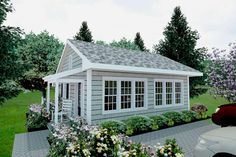 Guest House Plans, Small House Plans, House Floor Plans, Guest Cottage Plans, Small Cottage Plans, Tiny Guest House, Cottage Floor Plans, Backyard Guest Houses, Backyard Cottage